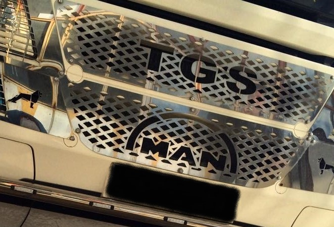 MAN TGS Radiator Grill Super Polished Stainless Steel 2 Pcs