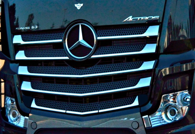 Left and right mirror stainless steel handle door covers for Actros MP4 trucks chrome