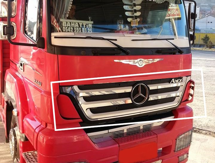 Mercedes Axor Mirror Covers Super Polished Stainless Steel 4 Pcs